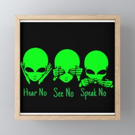 Hear No See No Framed Mini Art Print