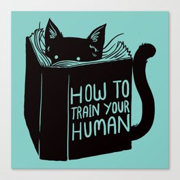 Cat Reader Advice Canvas Print
