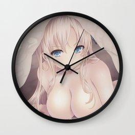 Sena Kashiwazaki in Bed Wall Clock