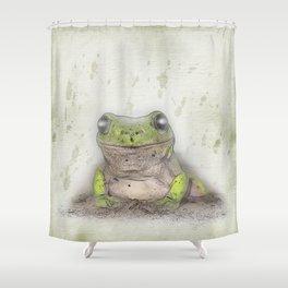 Jeremiah was a bullfrog Shower Curtain