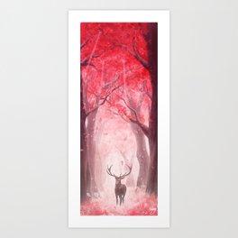 Ciervo rojo Art Print