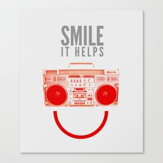 Smile. It Helps. Canvas Print