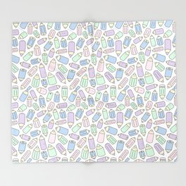 Pastel Pencil Party! Throw Blanket
