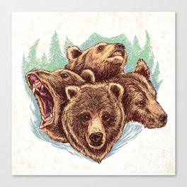Four Bears Canvas Print