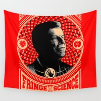 fringe Wall Tapestries featuring Walter Bishop - Fringe Science (RED) by 6amcrisis