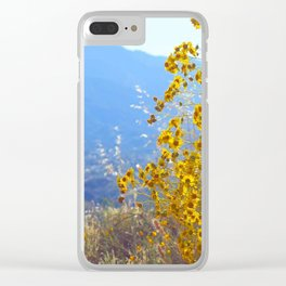 Mountain Blossoms Clear iPhone Case