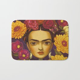 Frida Flowers Bath Mat