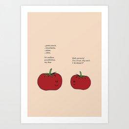 Tomato Desserts Art Print