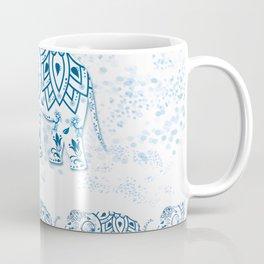 Blue Decorated Indian Elephant Coffee Mug