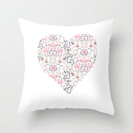 BABYLON~ Floral Trail Watercolor Throw Pillow