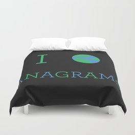 I heart Anagrams Duvet Cover