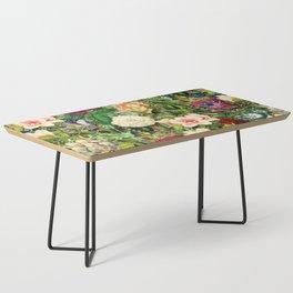 Vintage Floral Garden Coffee Table