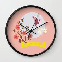 Bird and Full Moon Wall Clock