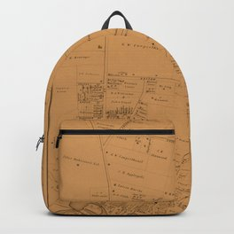 Map of Toms River 1878 Backpack