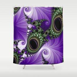 Black Onyx Cabochons Shower Curtain
