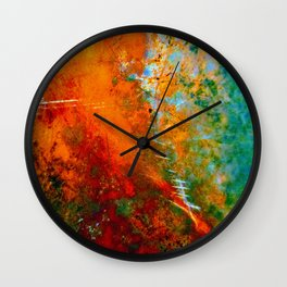 Turquoise and Copper 1776 Wall Clock