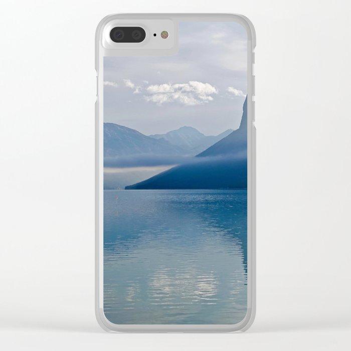 blue nature Clear iPhone Case