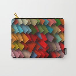 colorful rectangles with shadows Carry-All Pouch