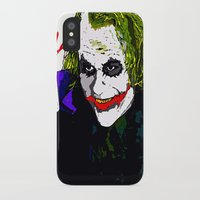 the joker iPhone & iPod Cases featuring joker by Saundra Myles