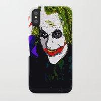 joker iPhone & iPod Cases featuring joker by Saundra Myles