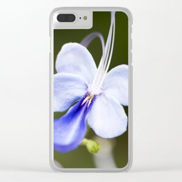 Blue Glory Bower from Bud to Bloom Clear iPhone Case