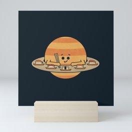 Sushi Saturn Mini Art Print