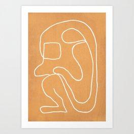 Abstract line art 18 Art Print