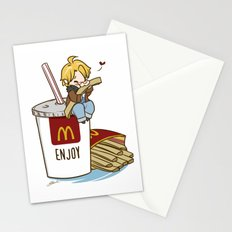 Hetalia - America Loves McDonalds  Stationery Cards