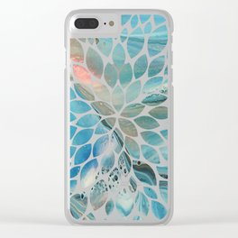 Pearl marble abstraction Clear iPhone Case