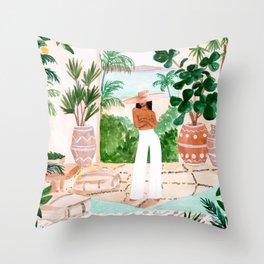 Peaceful Morocco II Throw Pillow