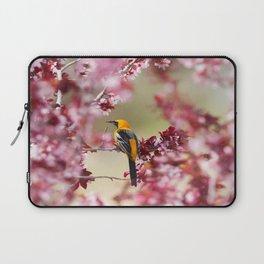 Oriole in Plum Tree Laptop Sleeve