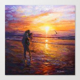 Sunset Art #16 by Leon Devenice Canvas Print