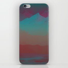 Ombre Mountainscape (Sunset Colors) iPhone Skin