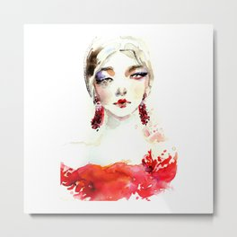Fashion illustration Marchesa Metal Print