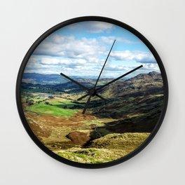 scafell pike Wall Clock