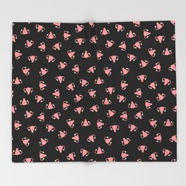 Crazy Happy Uterus in Black, Small Throw Blanket