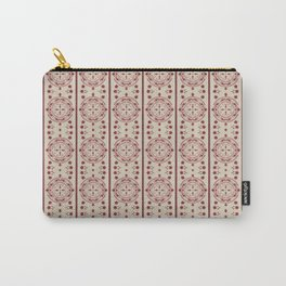 Mediterranean Vintage Pink Tiles Carry-All Pouch