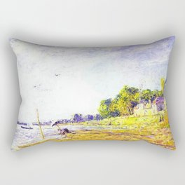 Golden Banks at Poissy, France by Francis Picabia Rectangular Pillow