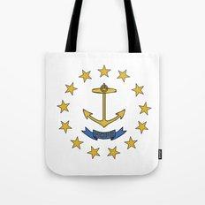 rhode island state flag united states of america  Tote Bag