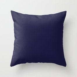 Blue Yacht Solid Summer Party Color Throw Pillow