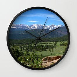 A Glorious Morning In The Rockies Wall Clock