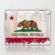 California Republic state flag - distressed edges on spruce planks Laptop & iPad Skin