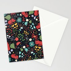 cats and flowers Stationery Cards