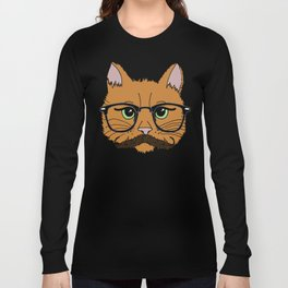 Mustache Cat Long Sleeve T-shirt