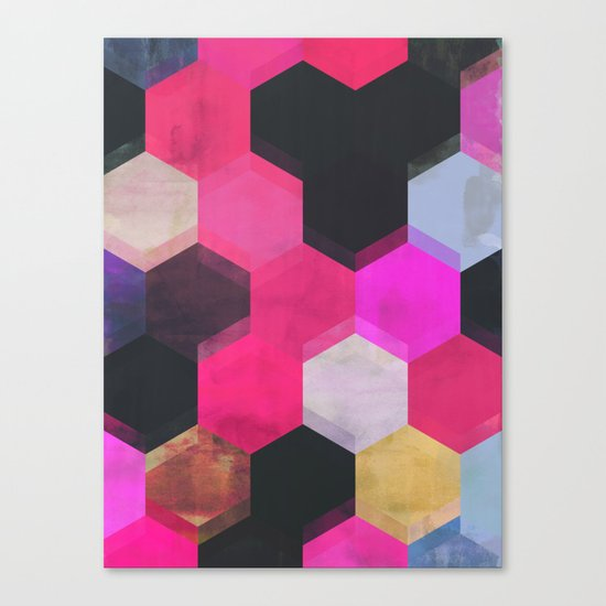 colour + pattern 13 Canvas Print