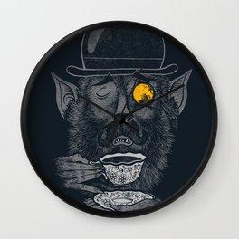 a british gentleman werewolf  Wall Clock