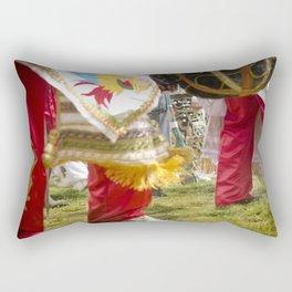 Red Dancers Rectangular Pillow