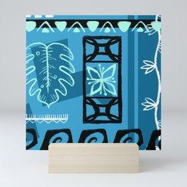 Hawaiian Pattern #1 - aqua! Mini Art Print