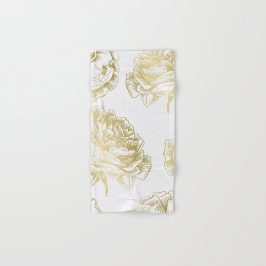 Roses Gold Hand & Bath Towel