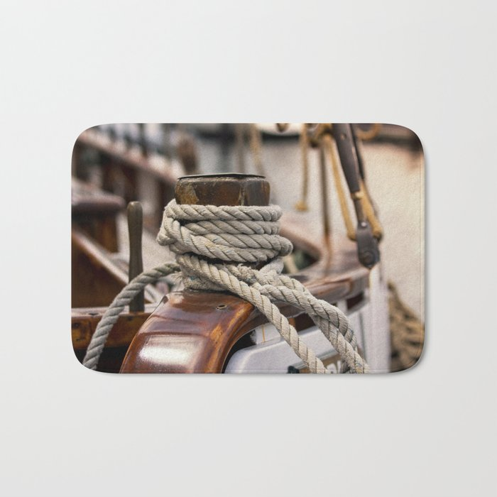 linen rope from the old ship Bath Mat